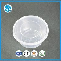 New Style disposable plastic fast lunch bowl kitchen sets food box round meal container