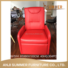 RED gray black colors optional Modern style 3+2 modern recliner leisure chair