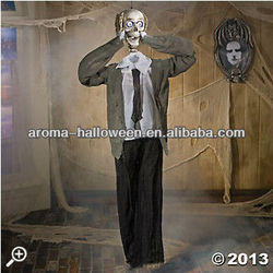 sonic man halloween decoration, halloween talking skeleton