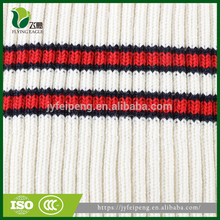 Rib fabric with polyester/cotton high quality for garment
