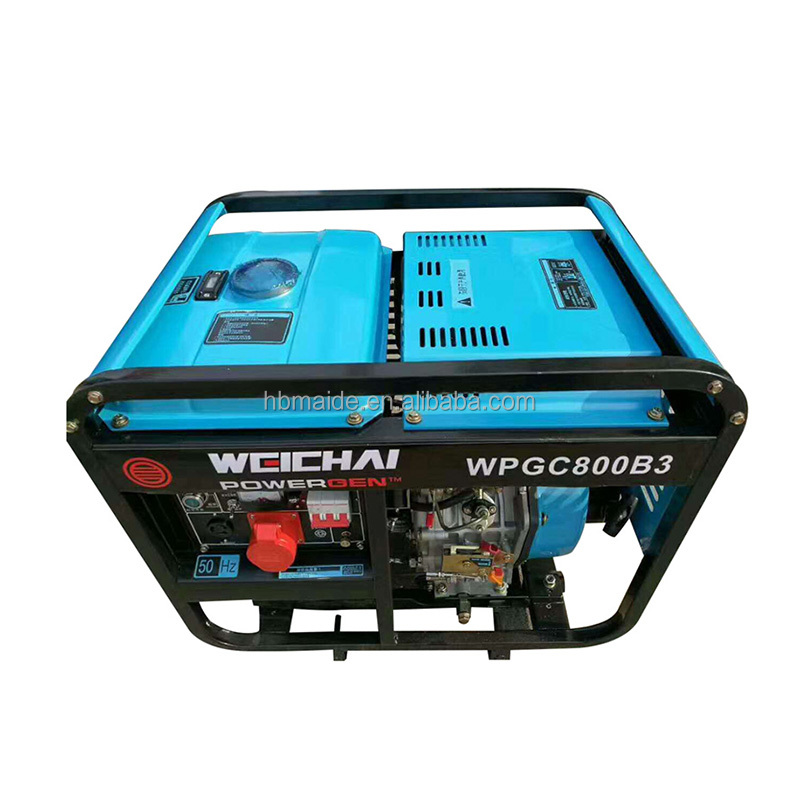 silent portable 4/6 cylinder 1mw power generator for communication