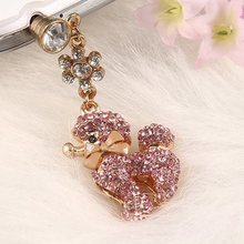 New fashion design Diamond Cute Cell Phone Dust Plugs Anti Dust Plug For Smartphone, Diamond phone vent plug