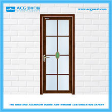Sound proof aluminum turn doors surface treatment for Wooden
