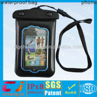 2014 pvc mobile phone waterproof case with lining for iphone 4s