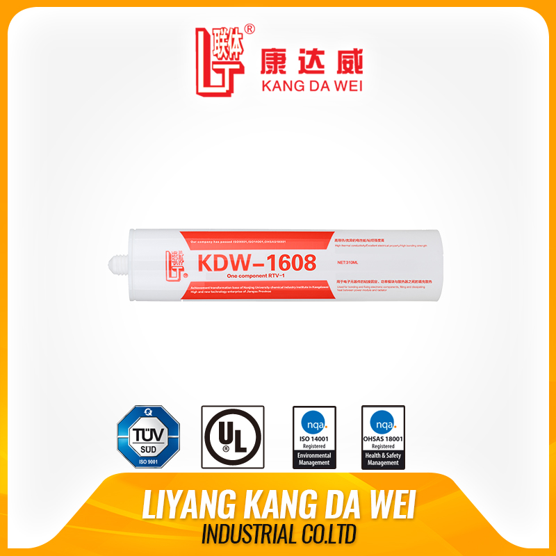 colorful silicone One-component Neutral Thermal Conductive Rubber KDW-1608 f Liyang Kangdawei Industry