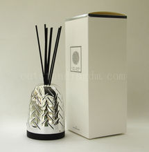 Sliver Cover Reed Diffuser With Luxury Container For Home Decoration