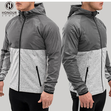 Latest Design Gym Clothing Active Wear Cheap Brand Splice Men Slim Fit workout Outdoor Crossfit Fitness Sport Jackets Coats