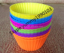 Multi-colored Silicone Cake Liner Muffin Cases Cupcake Baking Cup Mold