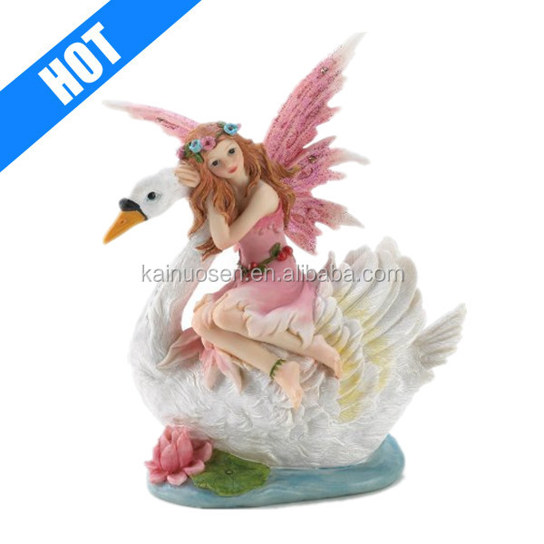 customized handmade painted resin beauty cheap fairy figurines