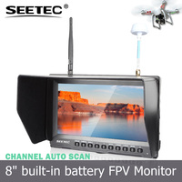 8 inch HDMI input no blue screen fpv monitor built-in battery 5.8ghz diversity receivers micro rc helicopter
