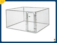 Chain Link Fence Outdoor Gate Dog Kennel Large Tall Pet Enclosure Run 6x10 Foot