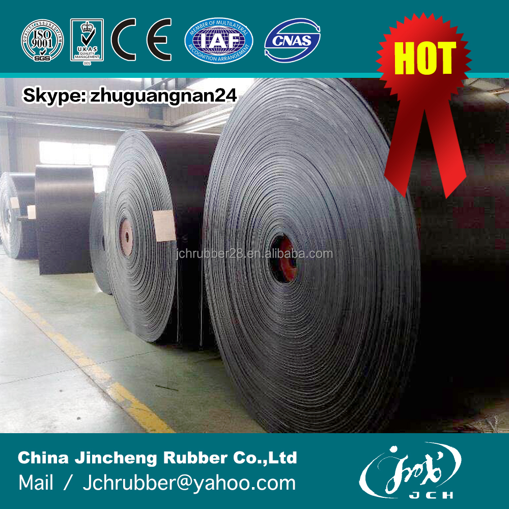Wholesale Heavy Duty Anti-Static Black Endless Moulded Edge Flat NBR Rubber Transmission Belt Factory Price