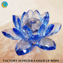European style gold crystal lotus flower for table decorations
