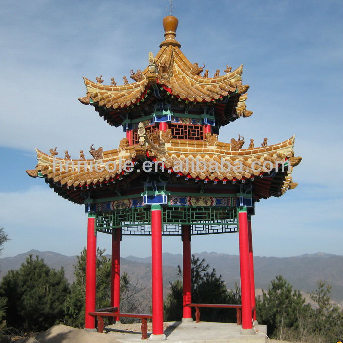 Yellow roof tiles Chinese style for temples or pavilion