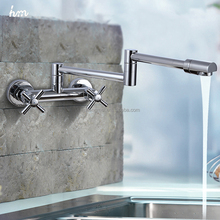 Brass Chrome Fold Kitchen Faucet Extension Hot and Cold Water Kitchen Faucet Mixer Tap Sink,Pot Filler 2016 New Design hm