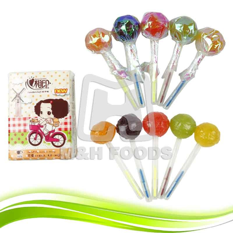 Colours Pen Lollipop Candy With a Bag Face Tissue