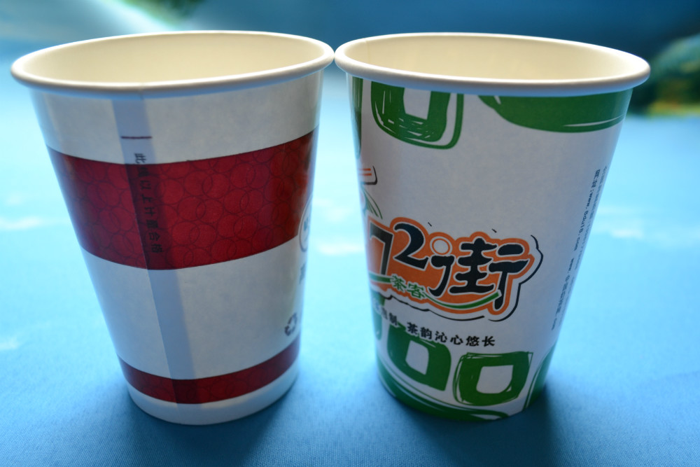 cold paper cup with pet lids for 16oz and 20oz