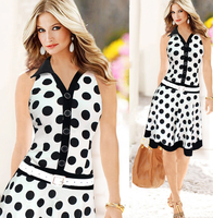 S62579A sexy lady printed dress slim bodycon dress summer sleeveless dress