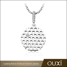 OUXI 2016 Fashion design Top quality 925 silver fashion changeable pendant necklace Y30413