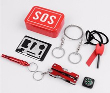 Hot Selling SOS outdoor first aid kit Emergency survival tools
