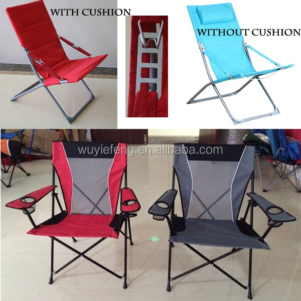 Folding beach chair/ camping chair with pillow
