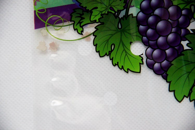 Custom printed OPP.CPP laminated with hand holes fresh fruit bag