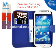 Business ID Card Holders Wallet PU Leather Case for Samsung Galaxy S4 i9500