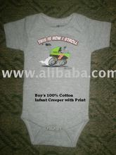 Boy's 100% Cotton Infant Creeper With print