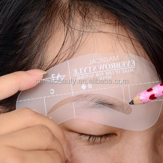 Wholesale Makup Tools DIY fashion makeup Eyebrow Stencils