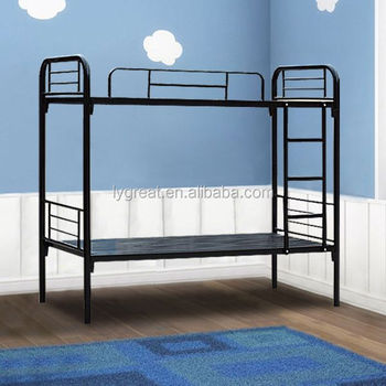 Hot sale durable cheap twin over double metal bunk bed for Metal bunk beds for sale cheap