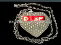 Hot sale Promotional LED heart shape fashionable design LED necklace for gift