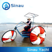 China factory 3 person water trike 2+1 seat water play equipment for water park