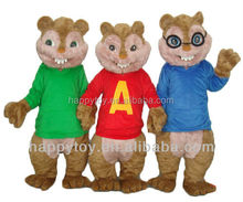 HI CE hot sale used cheap cartoon character alvin chipmunks mascot costume for adults