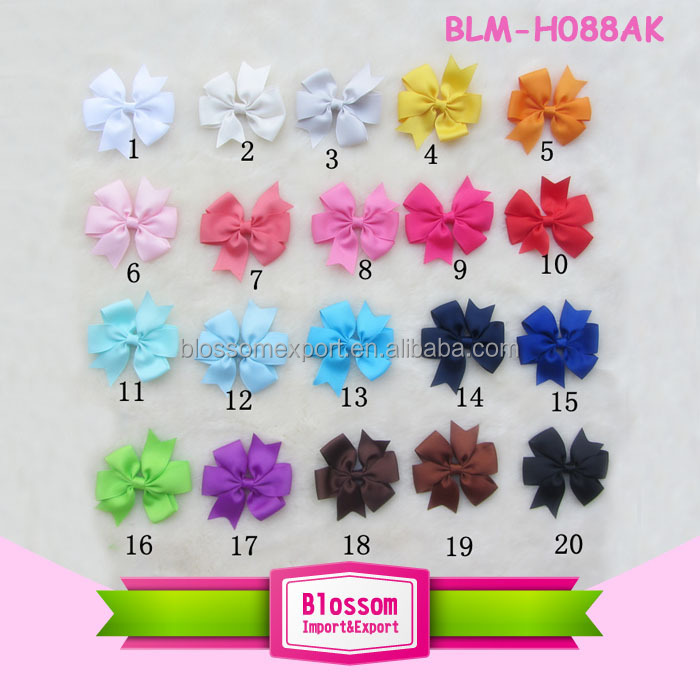 Lovely solid color with bow wholesale baby stretchy headband