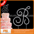 high quality bling Alphabet letter cake toppers for wedding supplies
