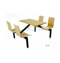 Metal and Wood Dining Table and Chairs, 4 Seaters Catering Tables and Chairs
