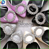 renqing decorative silver metal rhinestone shoe buckles shoe accessories