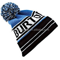 English letters jacquard knit hat unique striated outdoor sport caps acrylic winter knit hat for youth