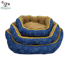 New Arrival Jean Cloth Removable Pet Sofa Bed PP Cotton Padded Waterproof Dog Bed