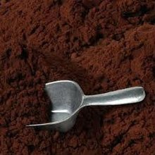 dark alkalized or black cocoa powder for biscuits, waffles