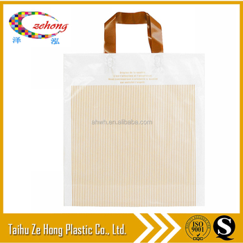 factory promotional customized shopping plastic bag with handle