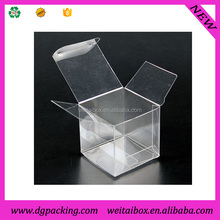 small transparent plastic square soap packaging for Bath room& packaging cube