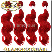 TOP quality virgin individual braids with human hair weave red color