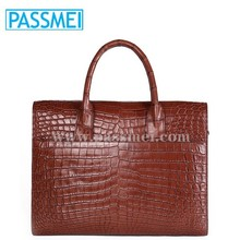 High Quality Genuine Leather Crocodile Leather Men's Handbags