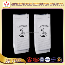 Customized side gusset laminated aluminum foil coffee bean packaging bags with valve