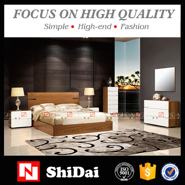 modern home furniture/bedroom furniture- wood double bed/wall bed B-813