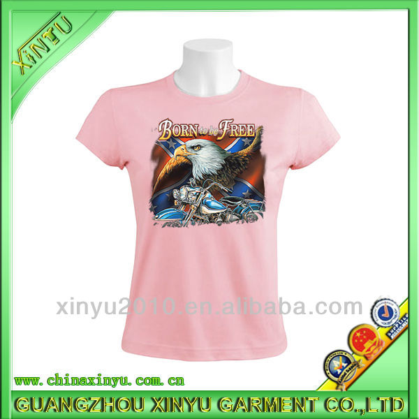 Wholesale best selling cotton pink t-shirt iron on stickers