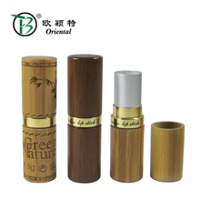 BLS-003 Slim super matte promotional bamboo lipstick tube packaging for girl