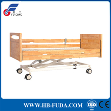 Wooden home care used electric long term three functions hospital nursing bed