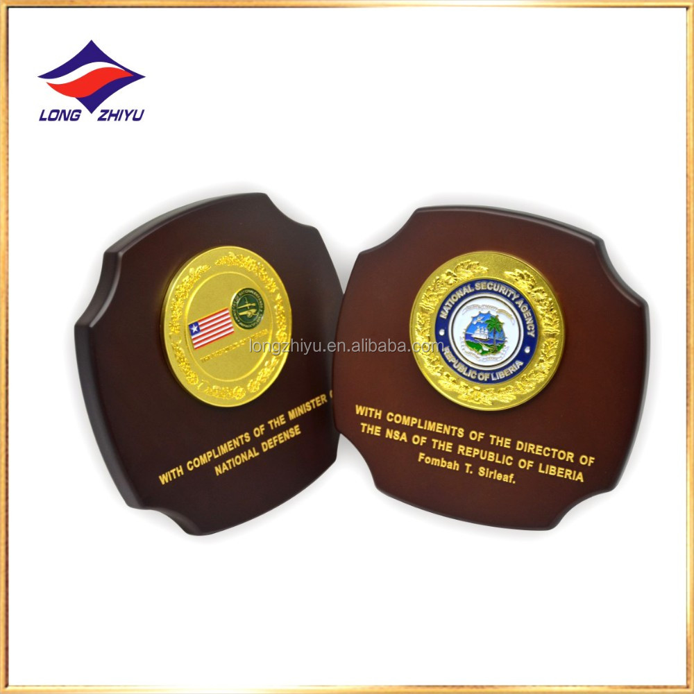 Decorative garden plaques Badminton logo wooden award and trophy plaque